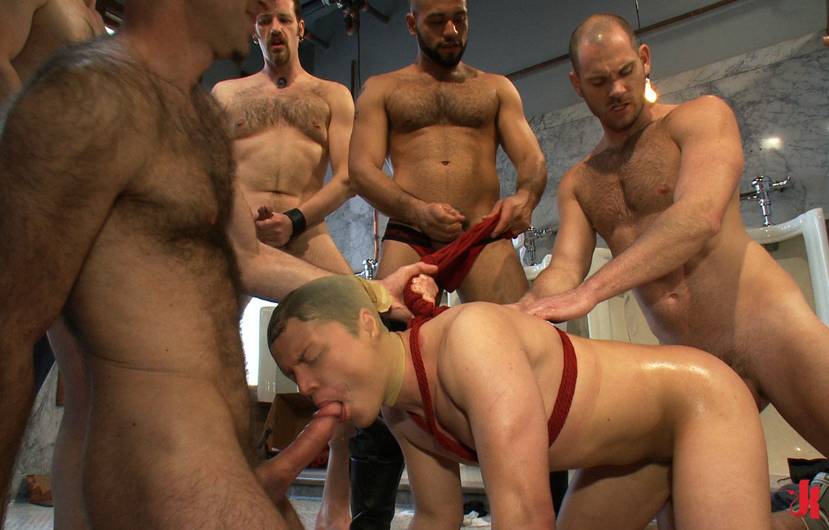 Gay guy gang banged and eats cum he039s hard 7