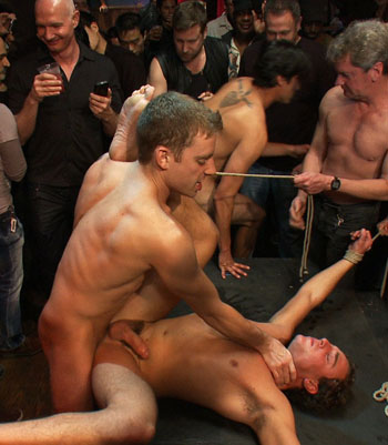 Bound and humilated gay slave