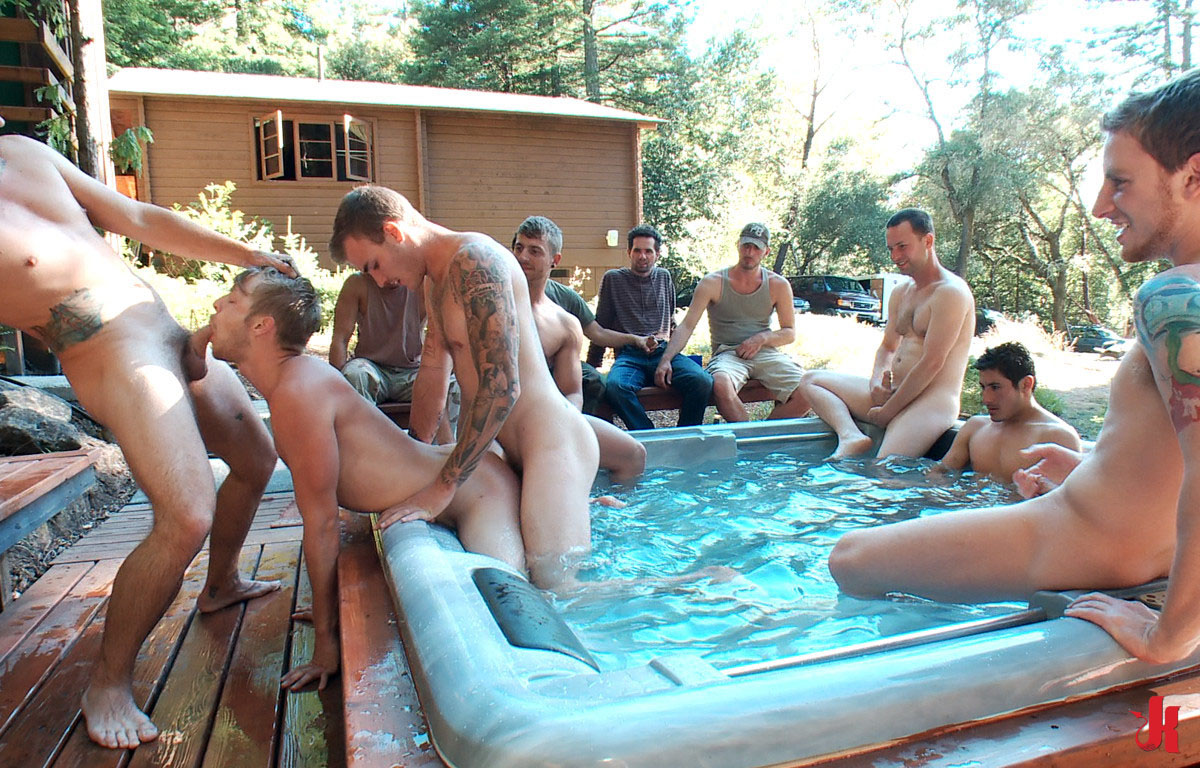 Hot gay guys enjoy fuck outdoor